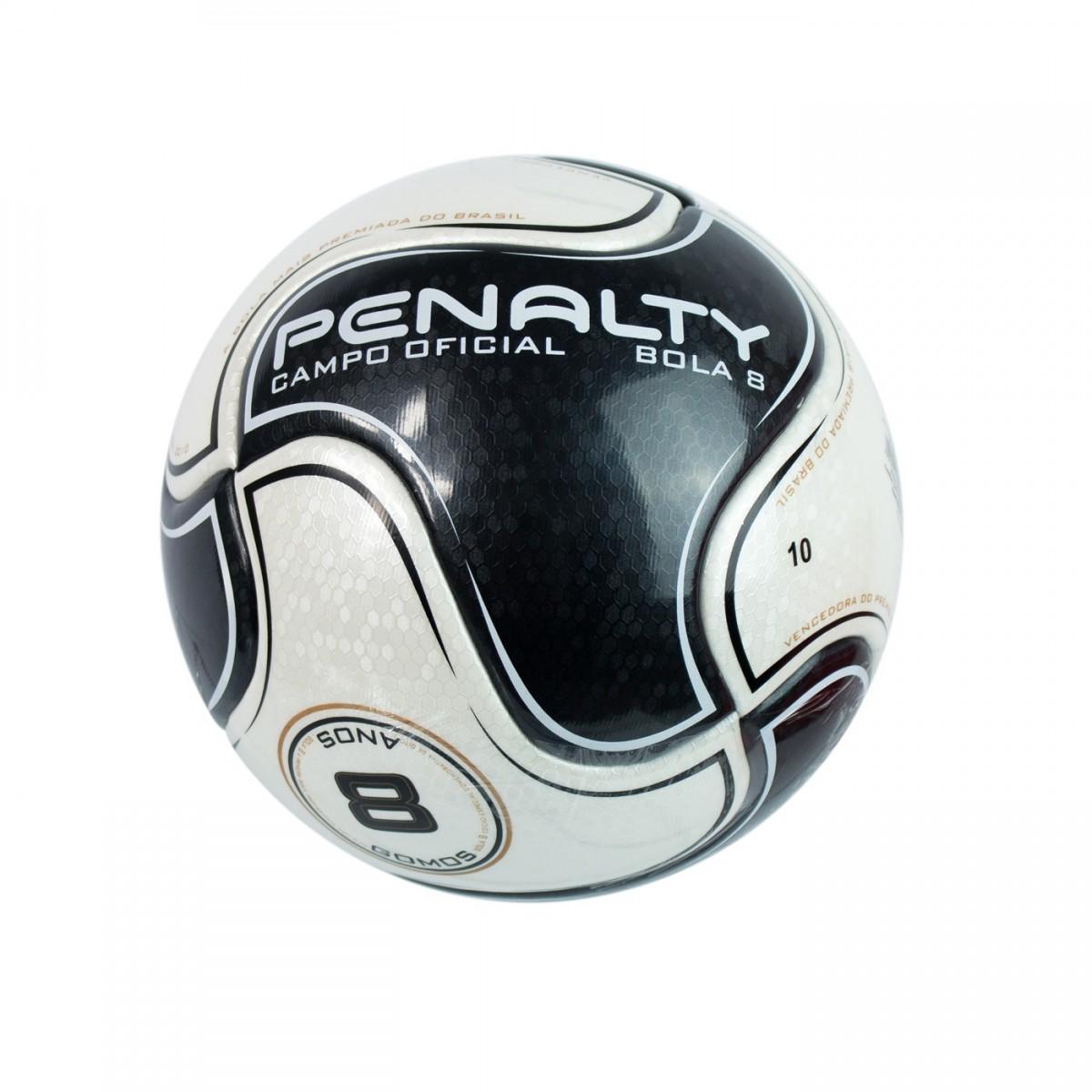 Bizz Store - Bola Futebol de Campo Penalty S11 R1 Branco Preto fb08e6a0620c1