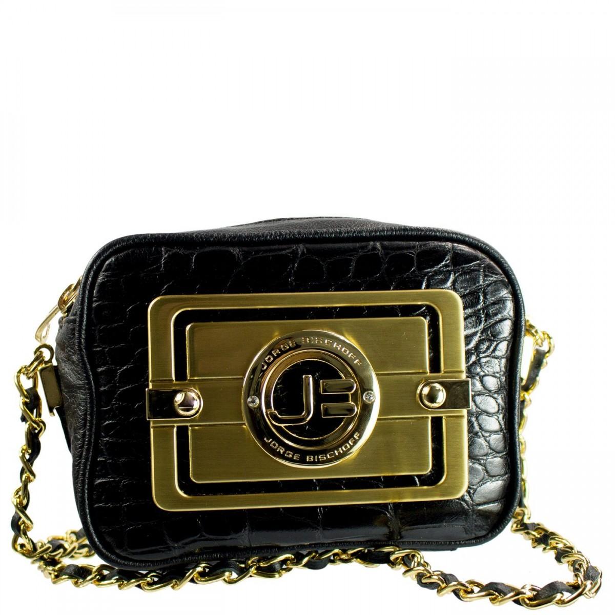 2459b4ec4 Bizz Store - Bolsa Clutch Feminina Jorge Bischoff Croco Couro