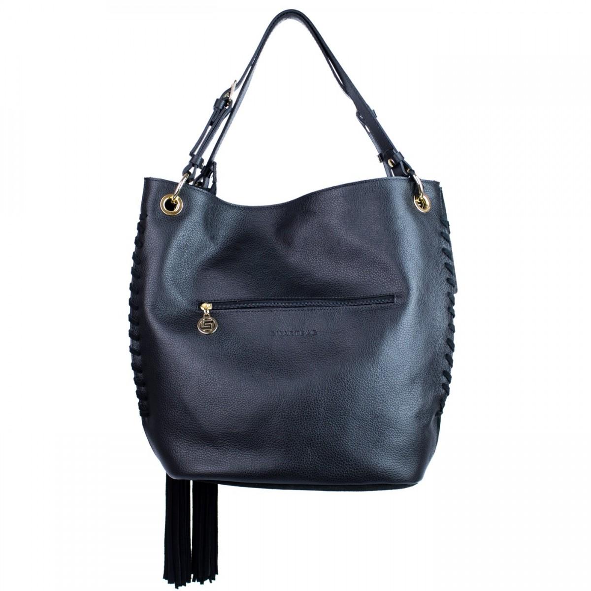 Bizz Store - Bolsa Feminina Smartbag Camurça Couro 70062.16 9b814022207