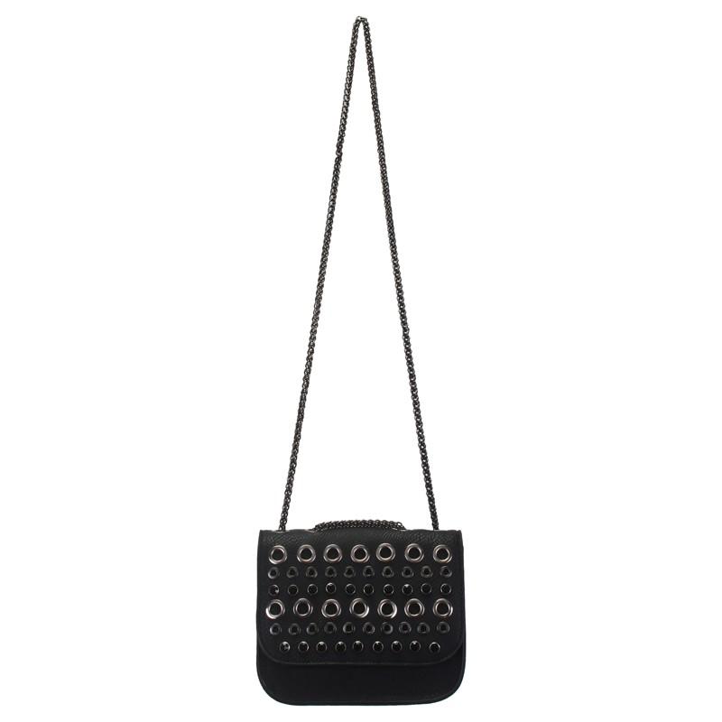 6053668e990b7 Bizz Store - Bolsa Feminina WJ Transversal Couro Pequena Preta