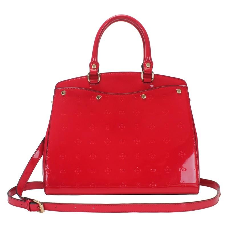 87b22982b Bizz Store - Bolsa Feminina WJ Verniz Grande Preta/Branca/Vermelha