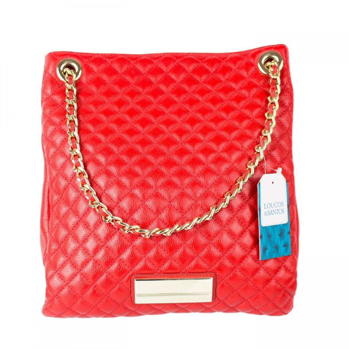 ad9fa5be0 Bizz Store - Bolsa Feminina Loucos e Santos Couro Vermelha