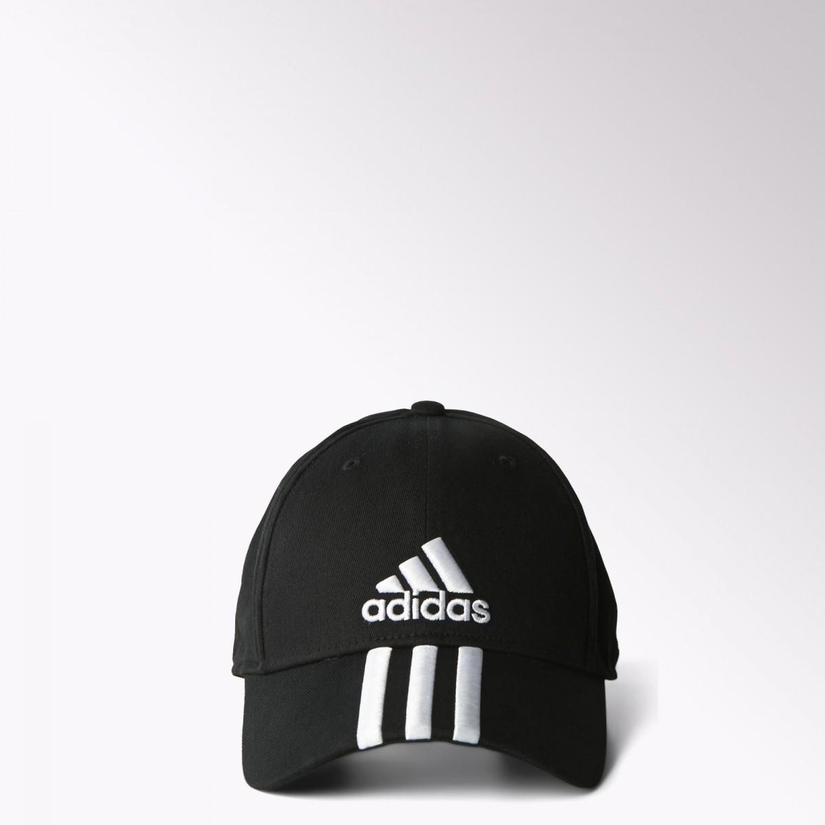 Bizz Store - Boné Adidas Perf Ess Cotton 3s Masculino Preto 7aa6d38be39