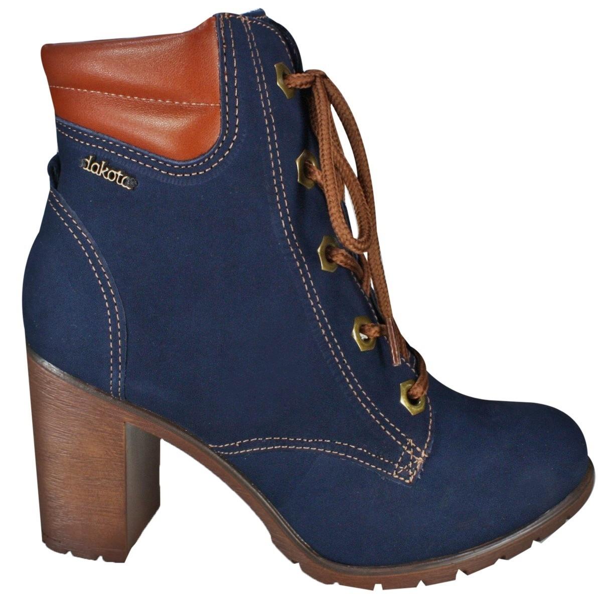 6022671a7 Bizz Store - Bota Feminina Ankle Boot Dakota Salto Alto Coturno