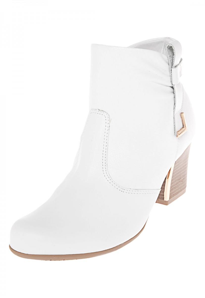 9d22755bbe Bizz Store - Bota Feminina Comfortflex Branca Cano Curto Couro