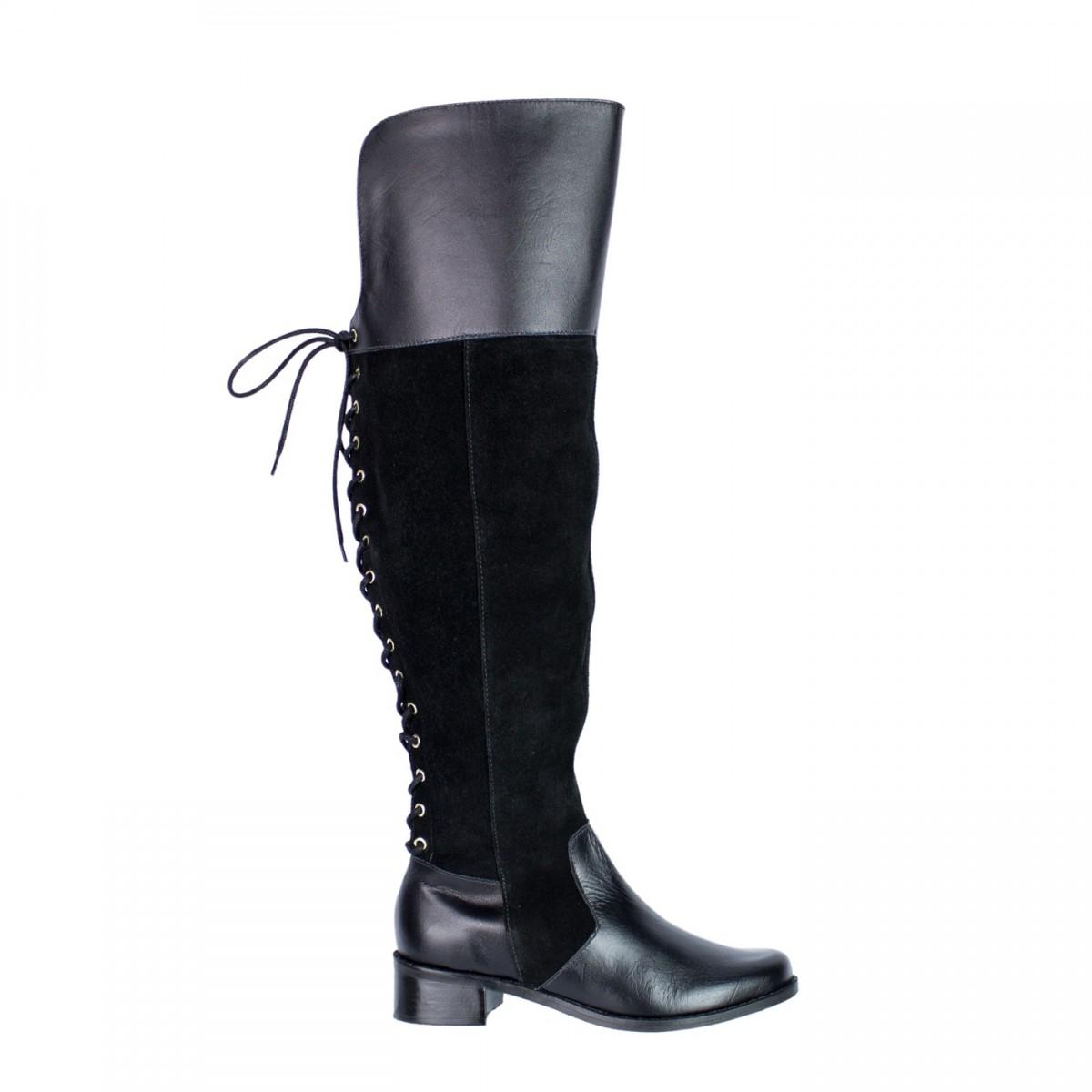e3efb431f Bizz Store - Bota Feminina Over Knee Only Camurça Salto Baixo