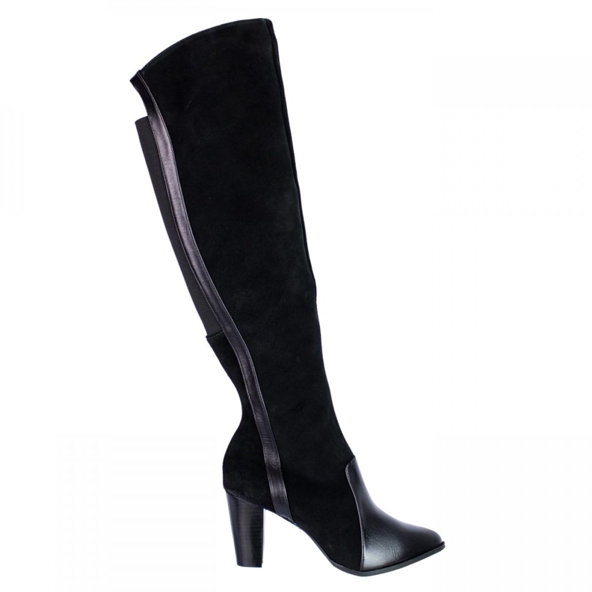 6a798986b Bizz Store - Bota Feminina Over Knee Only Camurça Salto Alto