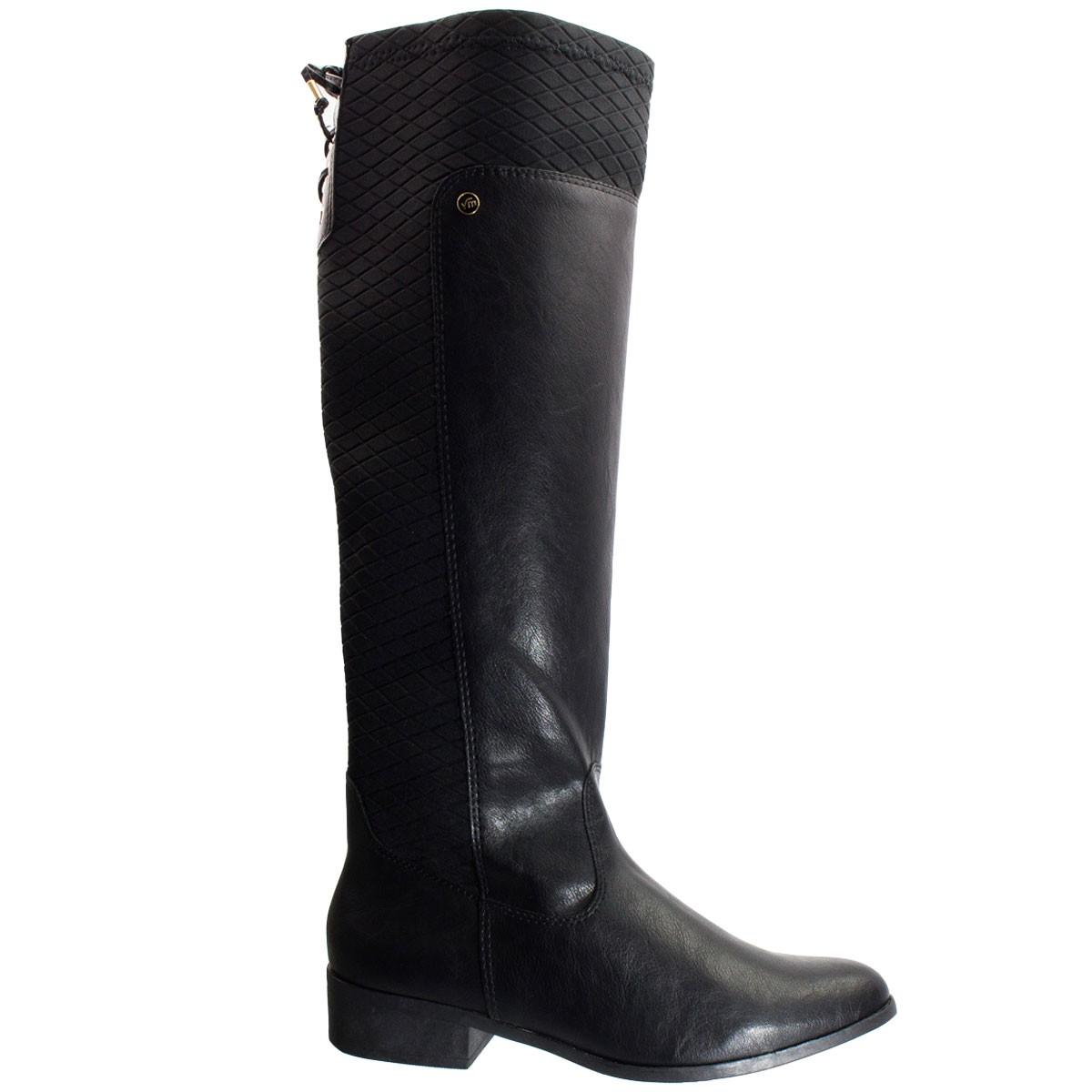 77f00387f2 Bizz Store - Bota Feminina Via Marte Napa Style Cano Longo