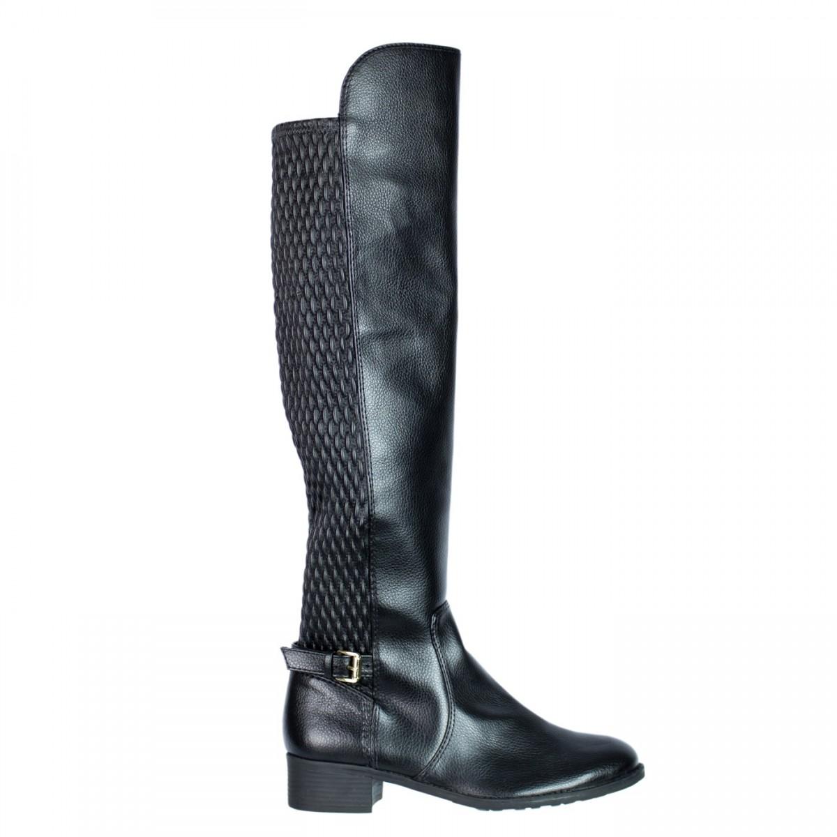 a5bdaca30 Bizz Store - Bota Over Knee Montaria Lillys Closet Feminina Preta