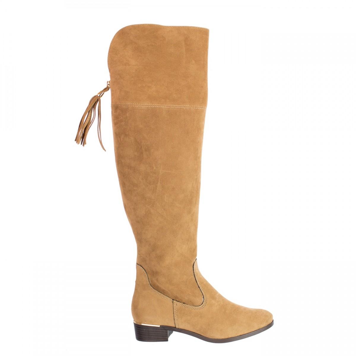 1f89c86c4d Bizz Store - Bota Over Knee Feminina Via Marte Camurça Preta