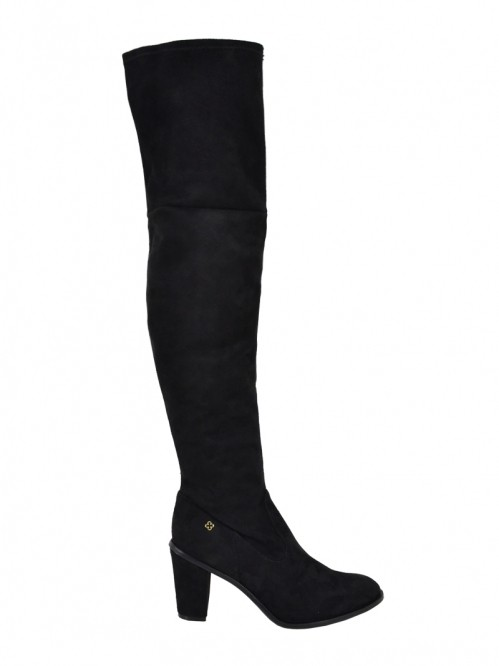 adf7b8f43 Bota Feminina Over The Knee Capodarte Camurça 4010714 - Preto