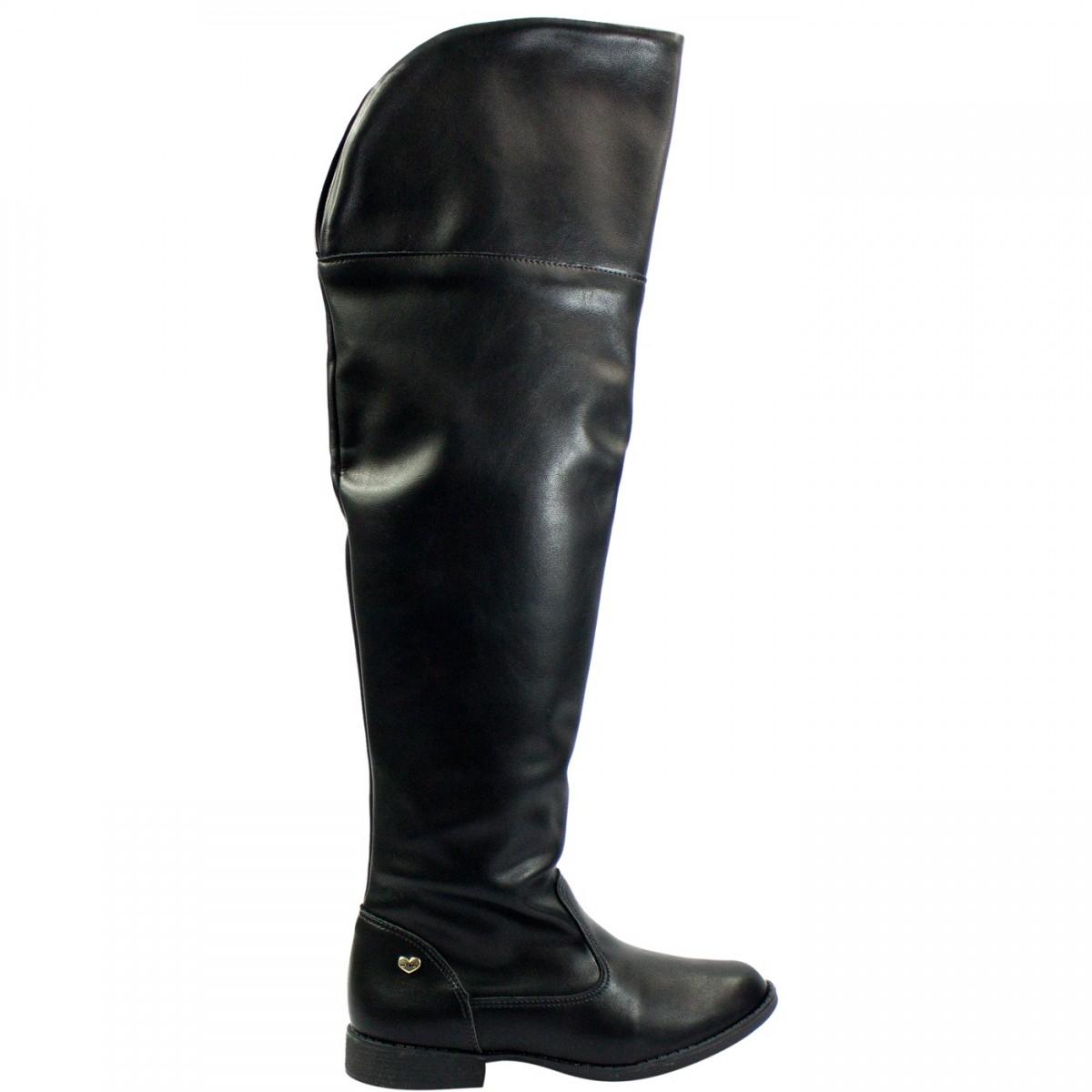 acbce8bde Bizz Store - Bota Over The Knee Infantil Feminina Ortopé Ecoflex