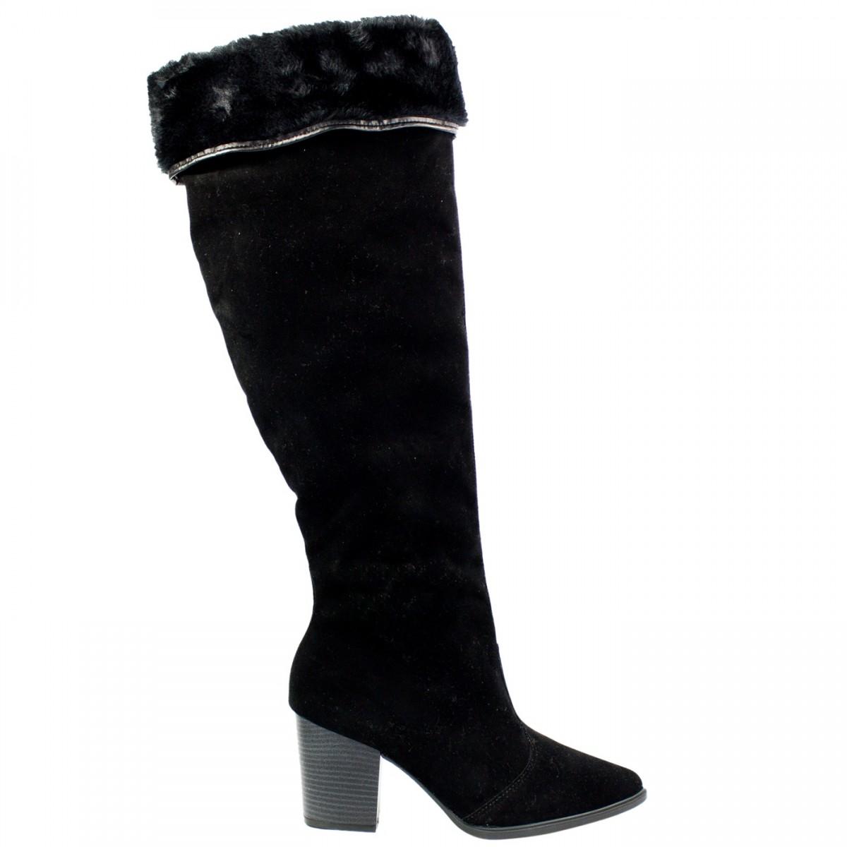9ba131e5f Bizz Store - Bota Over The Knee Feminina Vizzano Camurção Preta