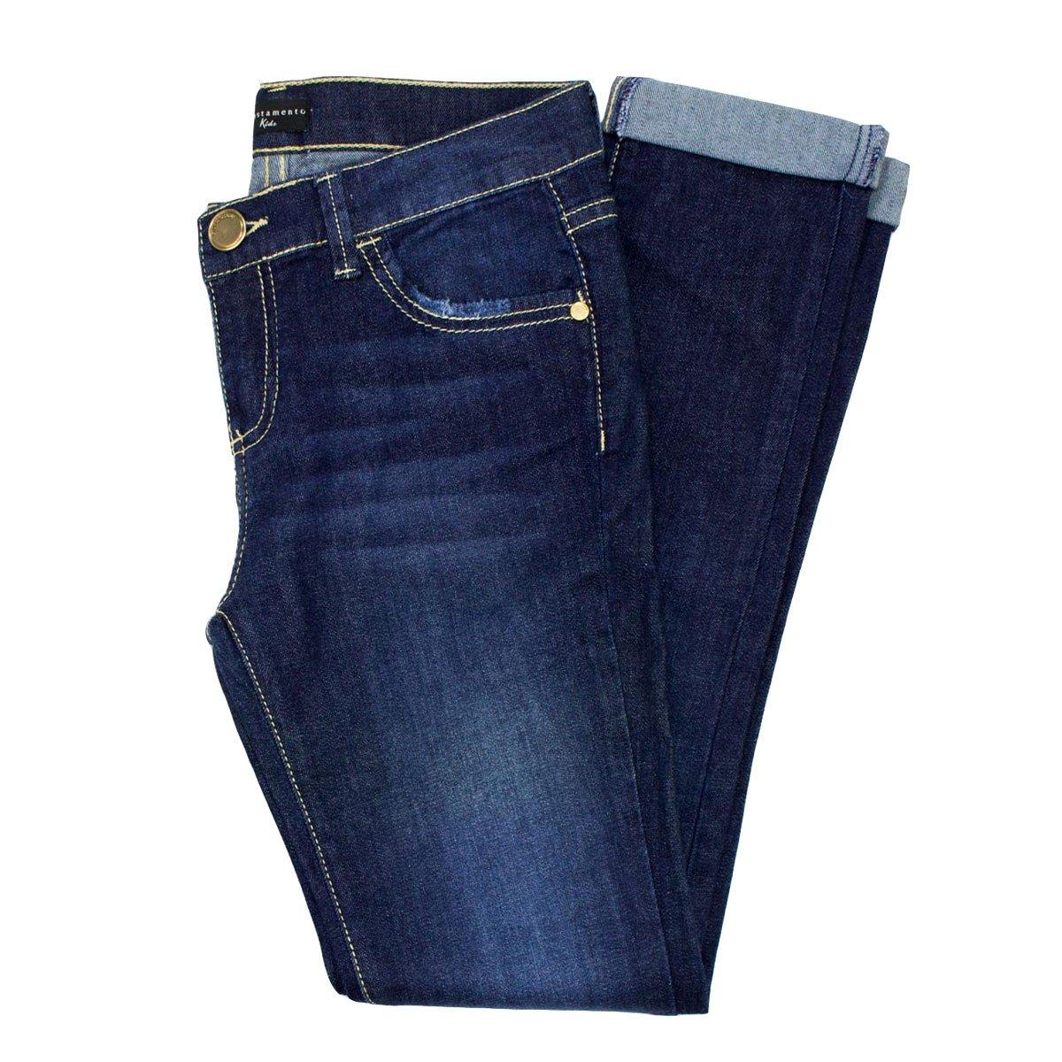 Bizz Store - Calça Jeans Infantil Feminina Acostamento Kids 08bffd9b37f4e
