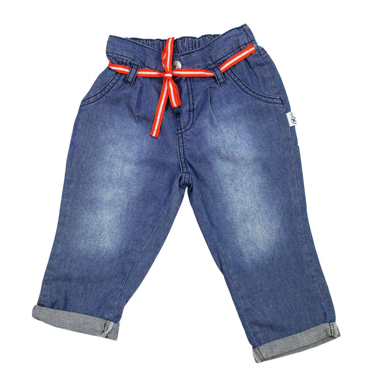 23e29327c Bizz Store - Calça Jeans Bebê Menina Hering Kids Azul