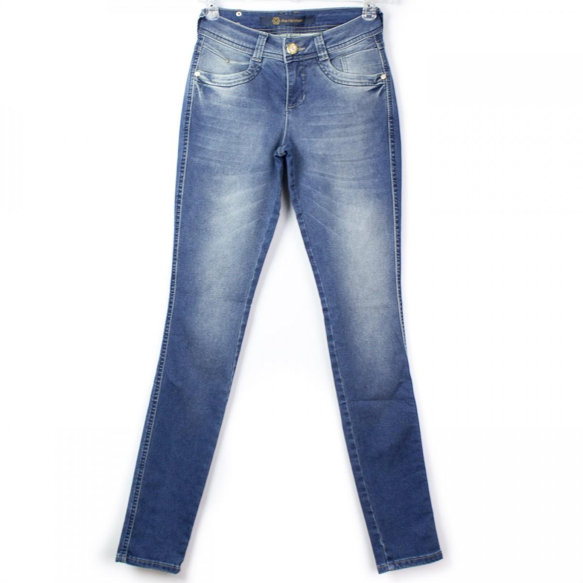 a4cabadcefc57 Imagem - Calça Jeans Ana Hickmann Skinny Low Ah1024 - 044243