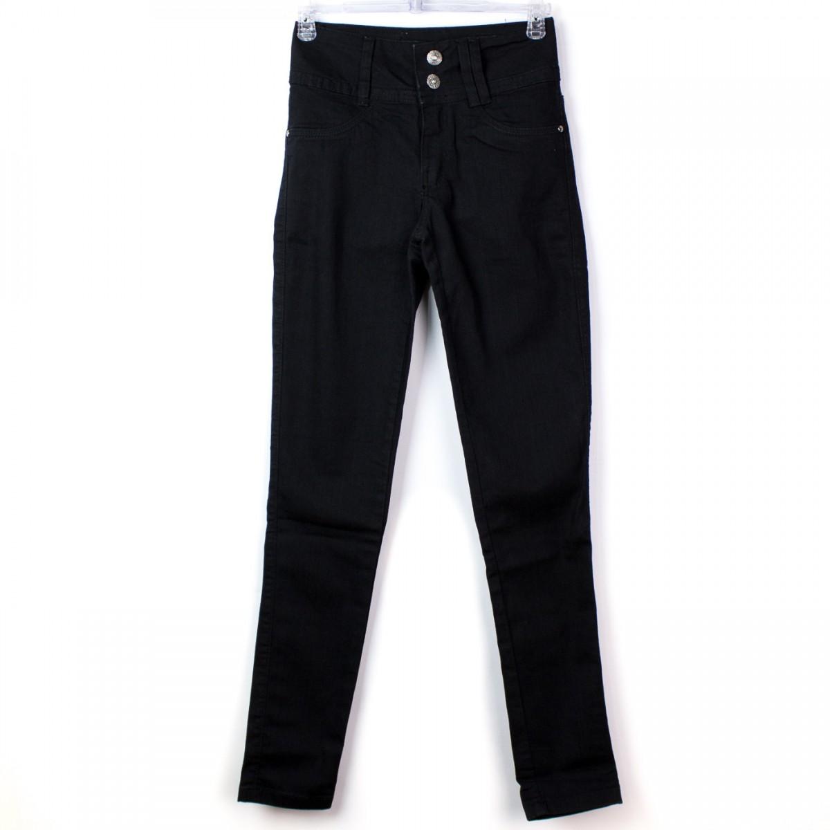 59c06ac24c Bizz Store - Calça Jeans Feminina Max Denim Cigarrete Preta