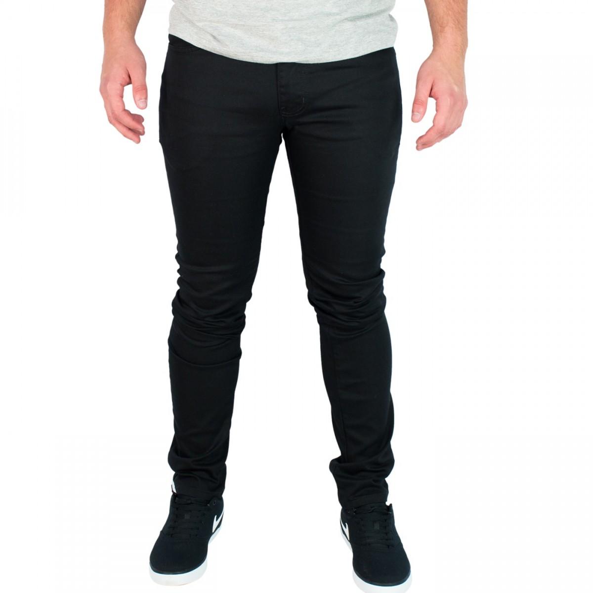 8119ee9946 Bizz Store - Calça Jeans Masculina Coca-Cola Super Skinny Preta