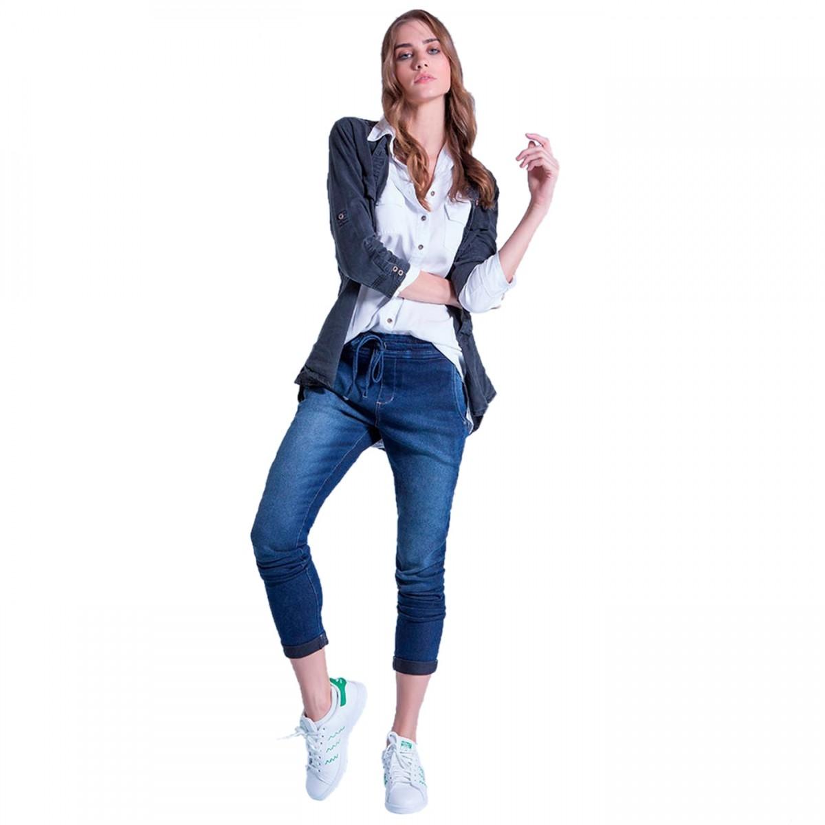 5195d1d8fb Bizz Store - Calça Jeans Jogging Feminina Ana Hickmann Azul