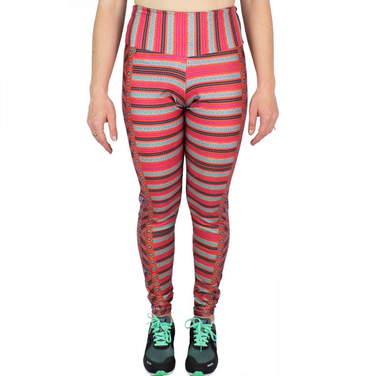 Bizz Store - Calça Legging Feminina Rosa Tatuada Casual Fit Cirrê 90fe6238bb3a9