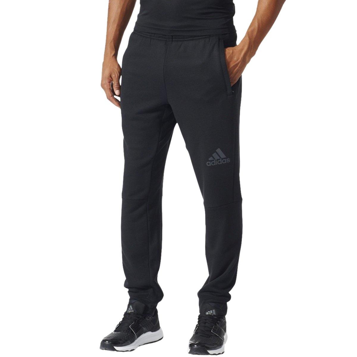 Bizz Store - Calça Masculina Adidas Workout Moletom Preto 65aefed3125