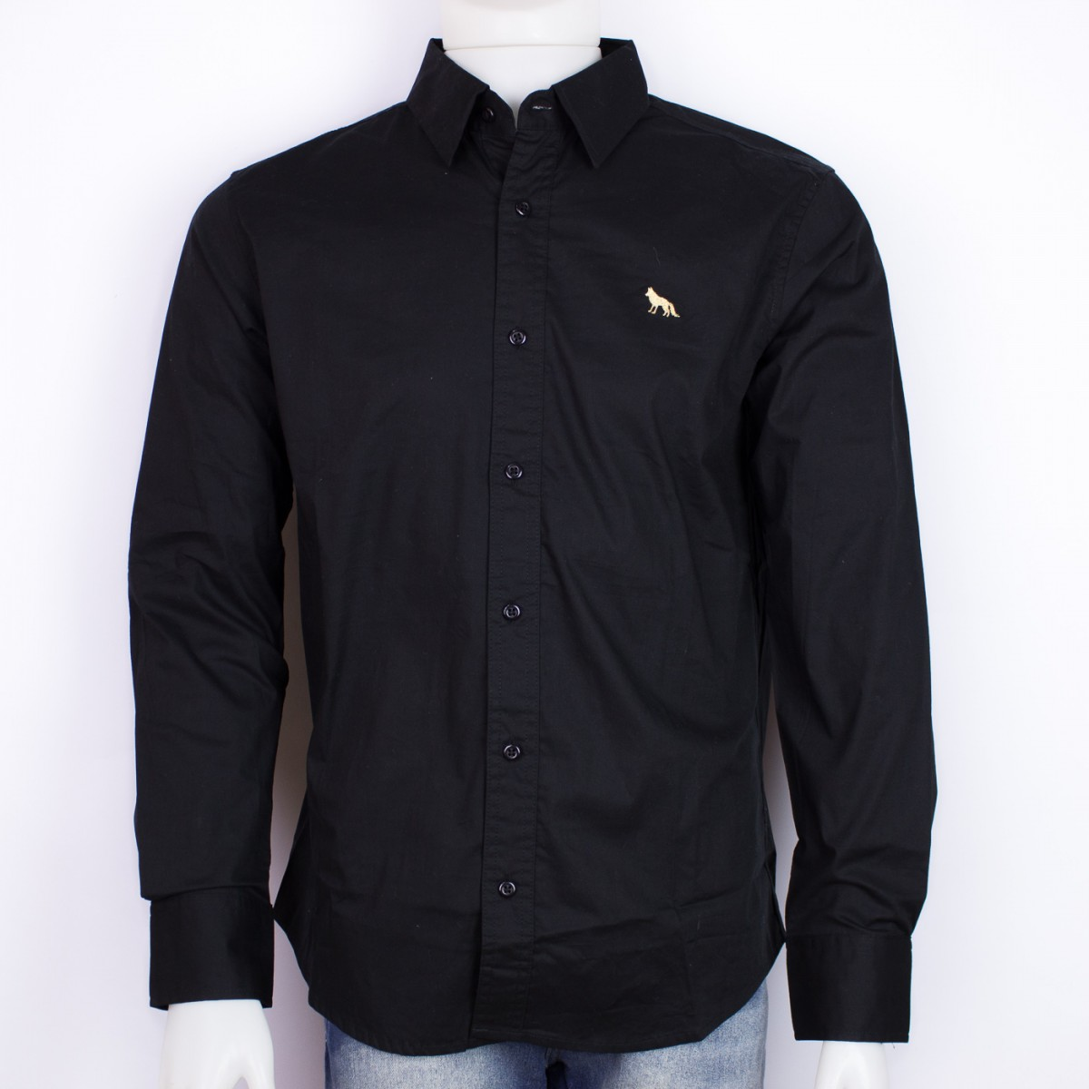 1922f6eca50de Bizz Store - Camisa Social Masculina Acostamento Preta Algodão
