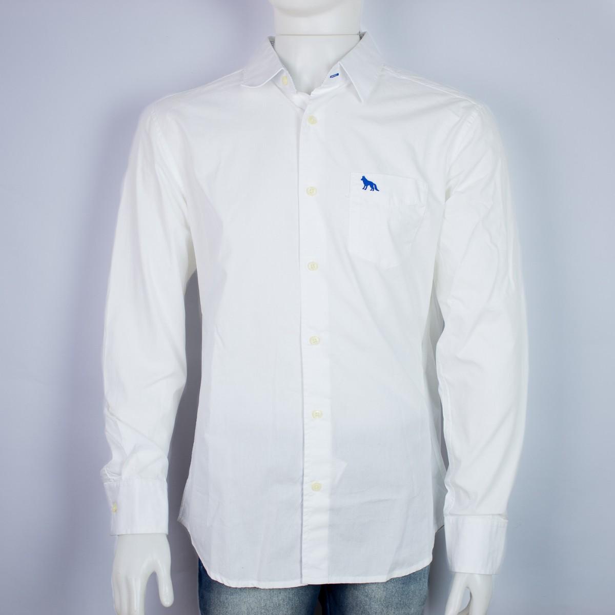 1b499430d Bizz Store - Camisa Social Masculina Acostamento Branca Lisa