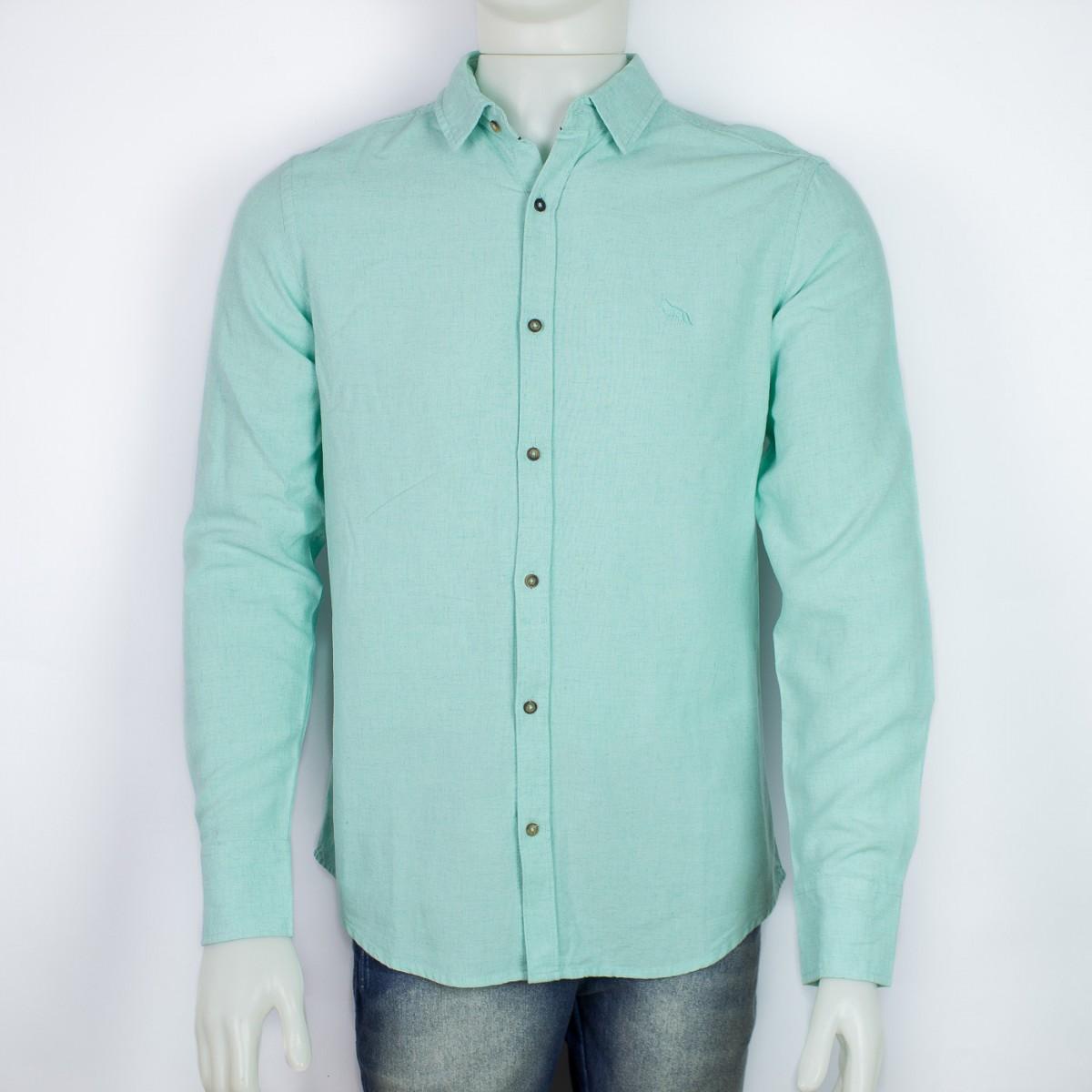 2c24b45480 Bizz Store - Camisa Social Masculina Acostamento Verde Viscose