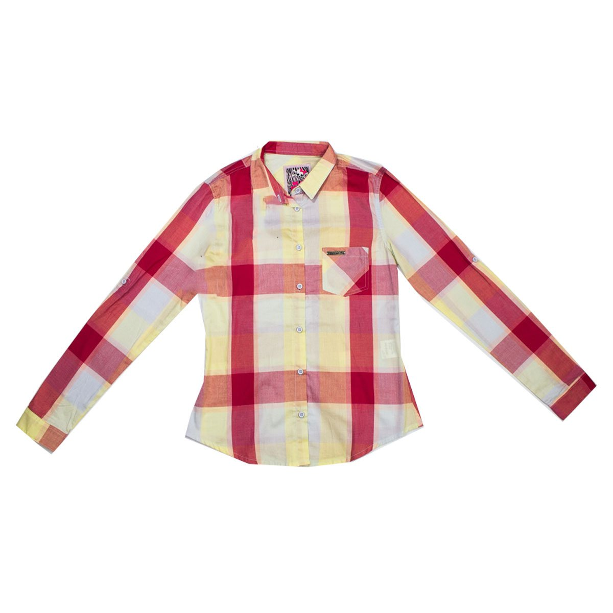 e70e4299b Bizz Store - Camisa Xadrez Infantil Menina Colcci Fun Rosa