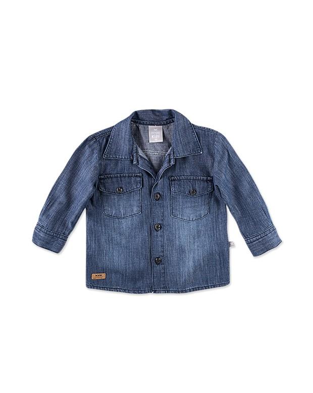 cc7a4ffcb Bizz Store - Camisa Jeans Infantil Masculina Hering Kids Manga Longa