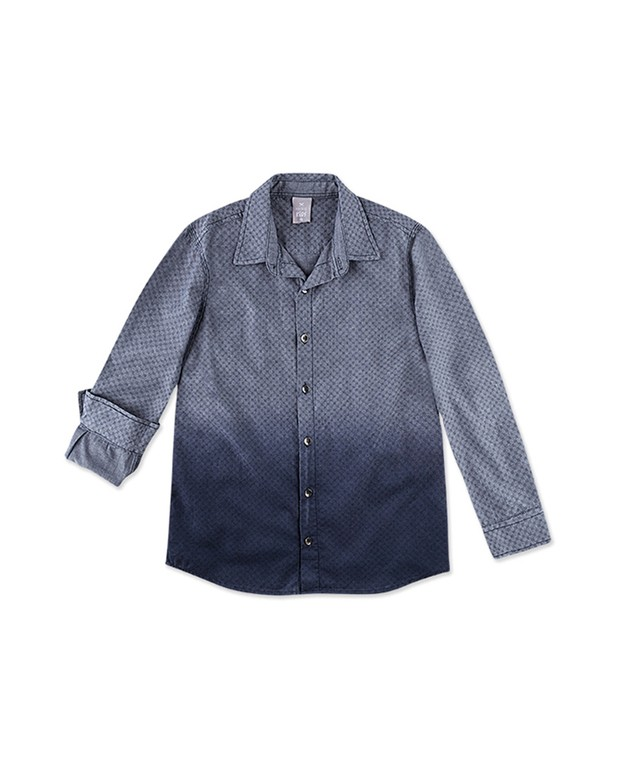 Bizz Store - Camisa Infantil Social Hering Kids Masculina Azul 846e8e7d23226