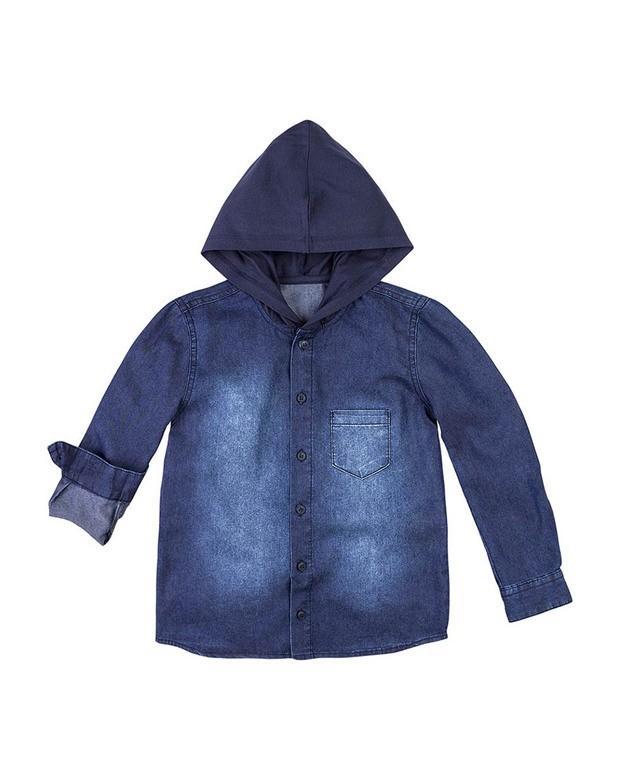 Bizz Store - Camisa Jeans Infantil Menino Hering Kids Com Capuz 24b02b249cb