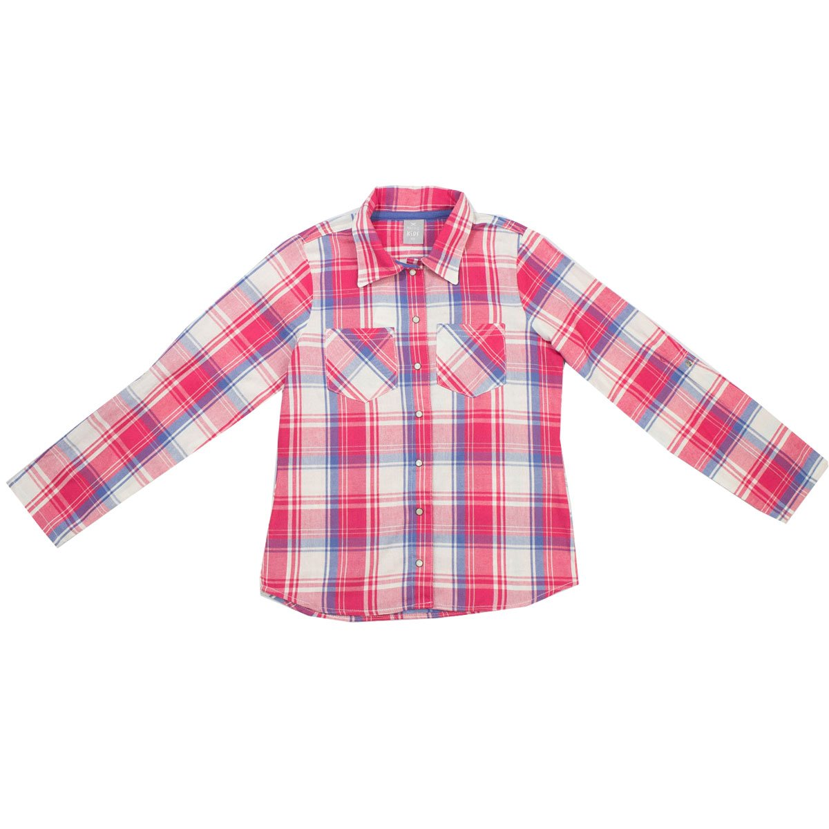 Bizz Store - Camisa Xadrez Infantil Menina Hering Kids Rosa 012d64b5e7034