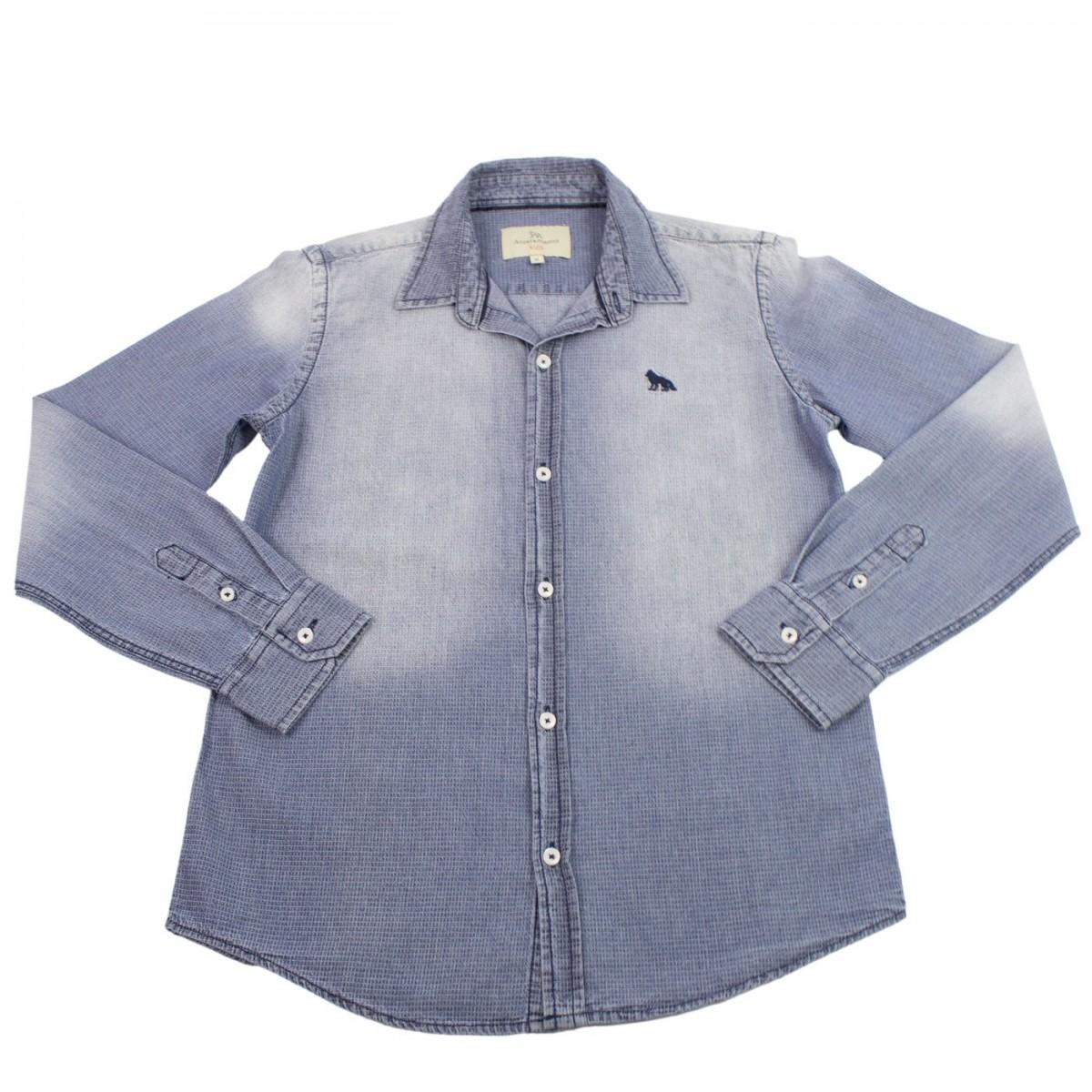b365a2826b Bizz Store - Camisa Jeans Infantil Masculina Acostamento