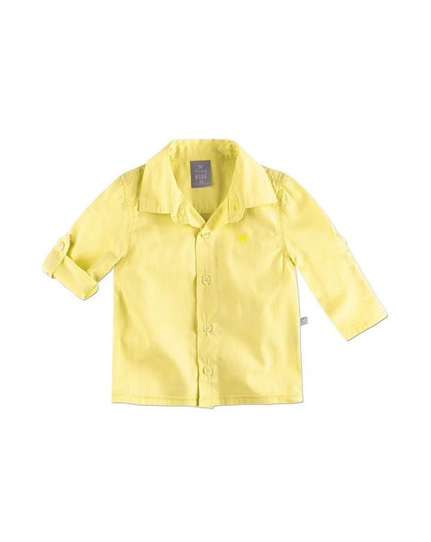 0c63f7d2fa Bizz Store - Camisa Infantil Masculina Hering Kids Amarela Manga Longa