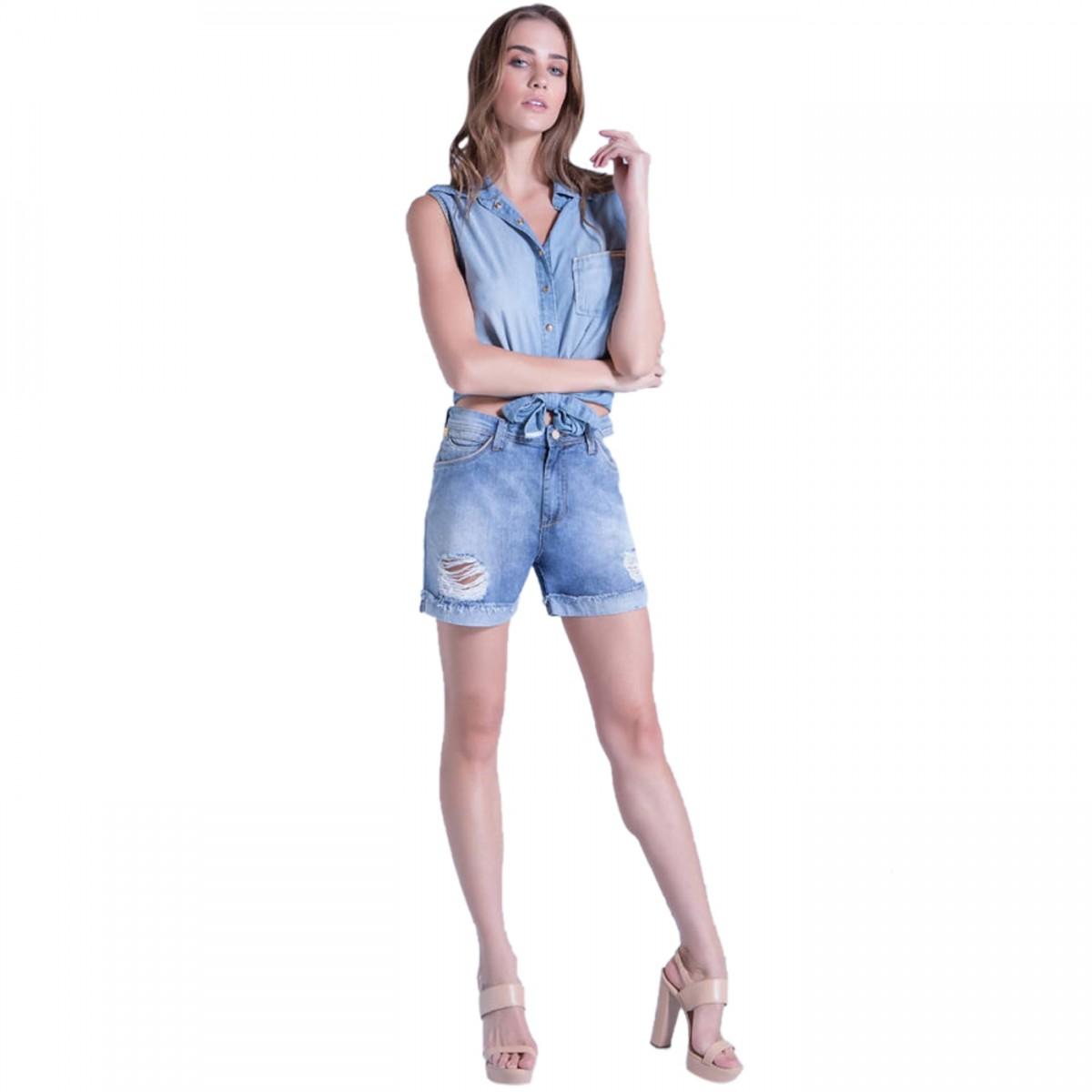 Imagem - Camisa Jeans Feminina Ana Hickmann 20068 - 053292 111eb1c440