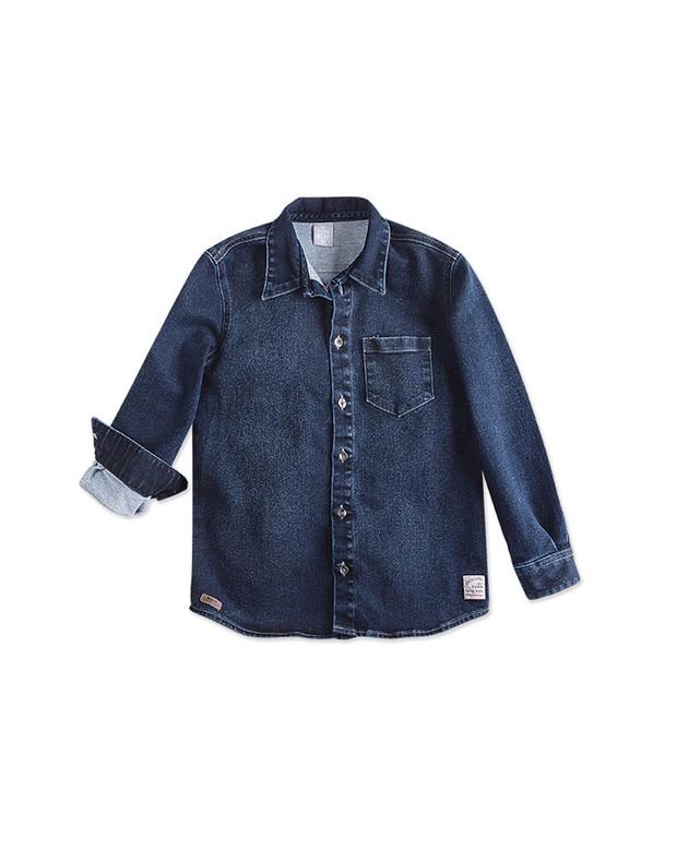 57cb4930f Bizz Store - Camisa Jeans Infantil Masculina Hering Kids Inverno