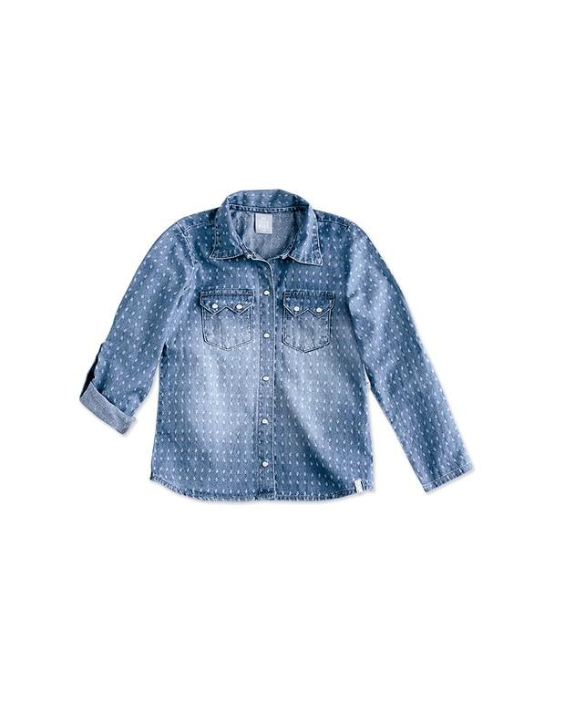 2ce5f5e31f Bizz Store - Camisa Jeans Infantil Feminina Hering Kids C755jejhk