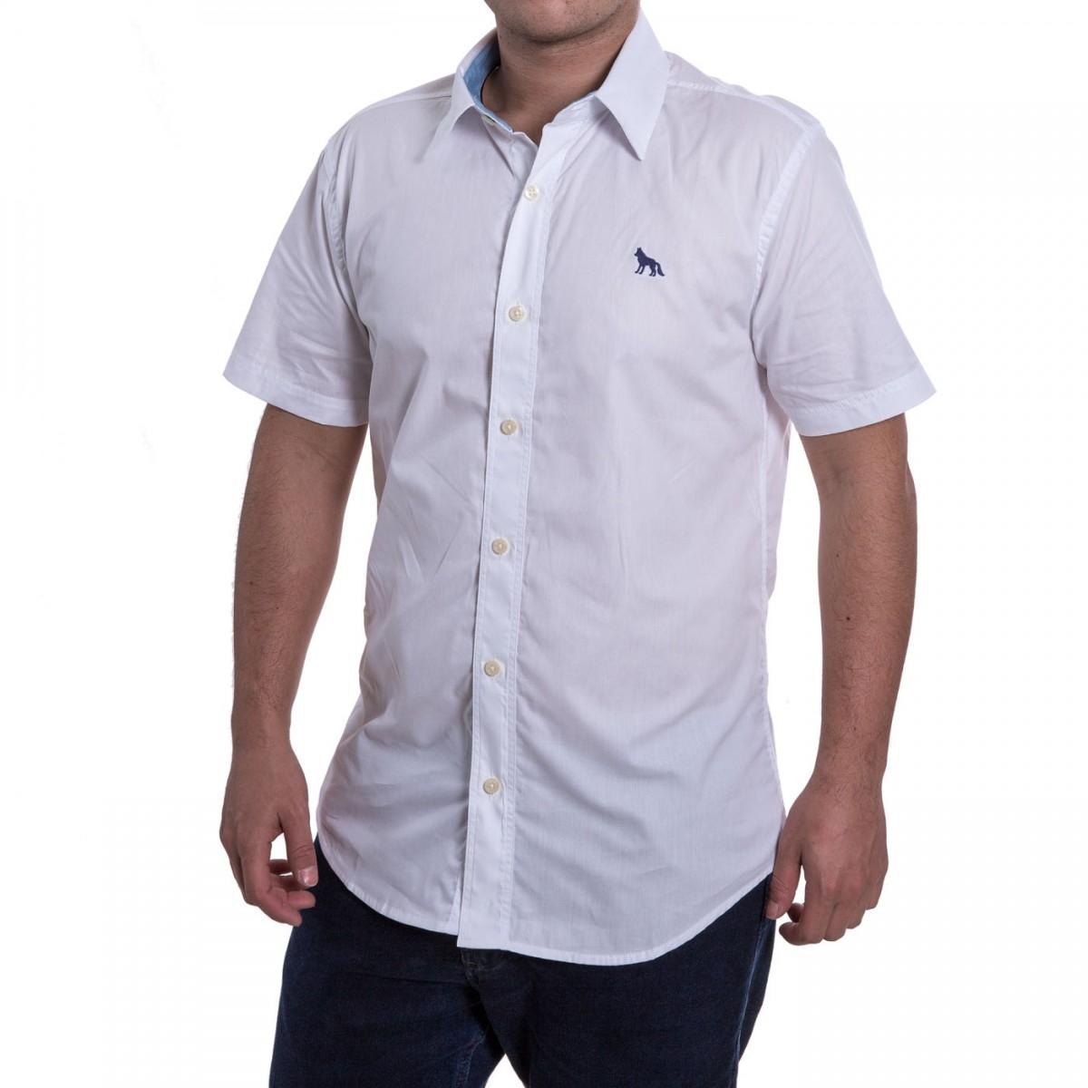 0b9b5ca4c Bizz Store - Camisa Social Masculina Acostamento Manga Curta
