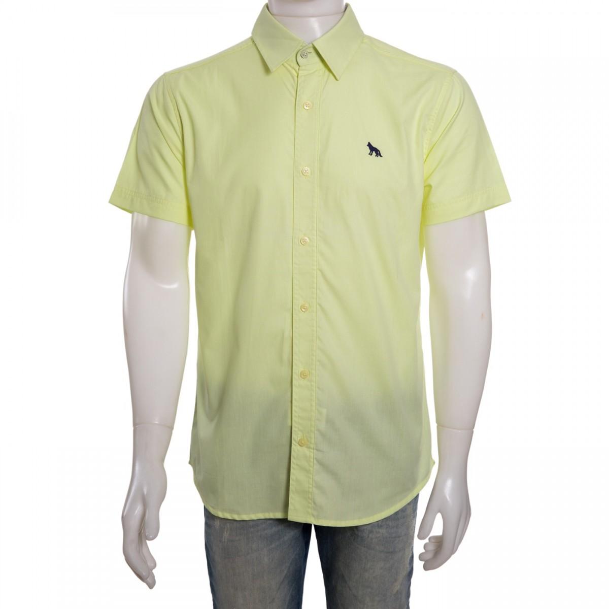 09e458e4e Bizz Store - Camisa Social Masculina Acostamento Manga Curta