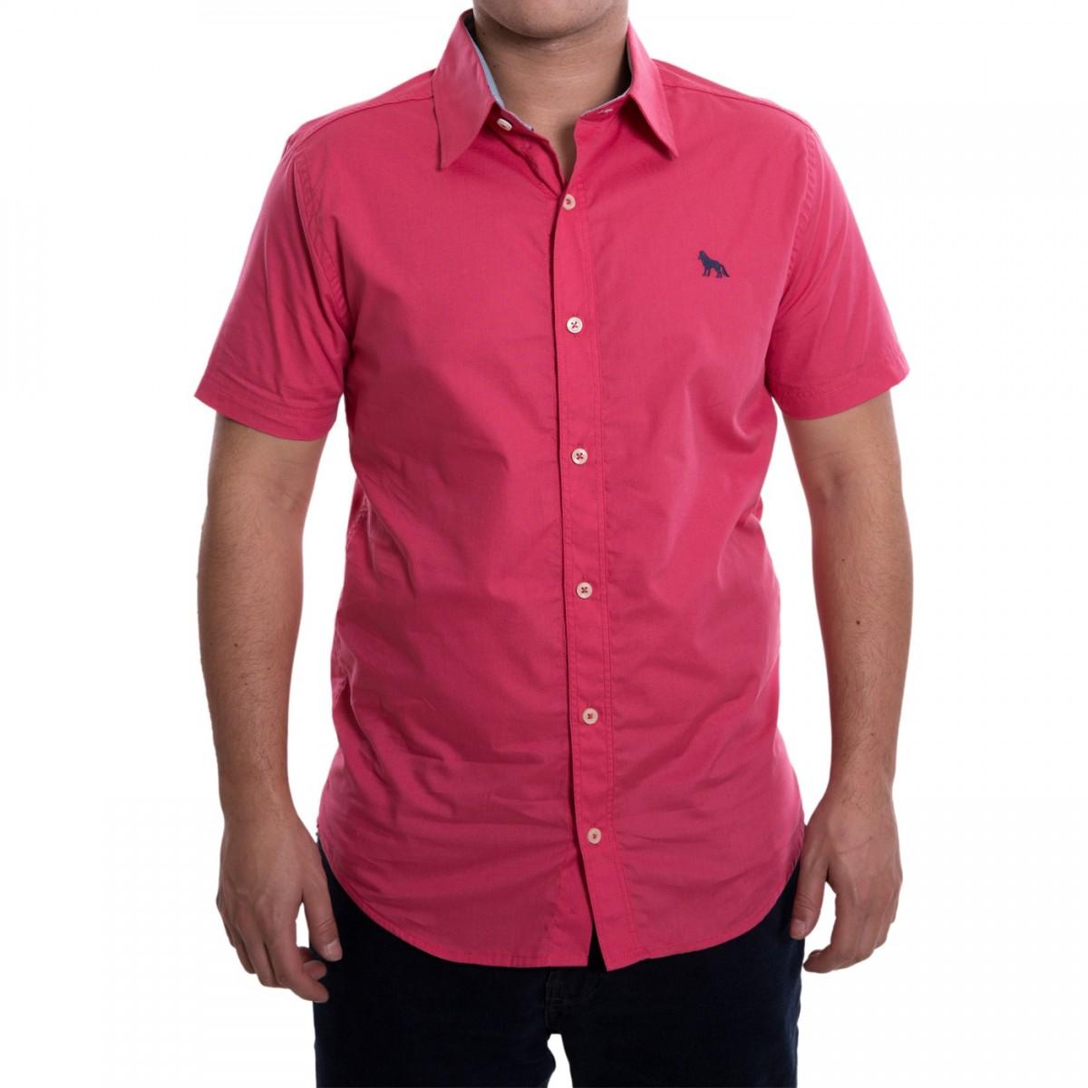 2f8aaa59f Bizz Store - Camisa Social Masculina Acostamento Manga Curta