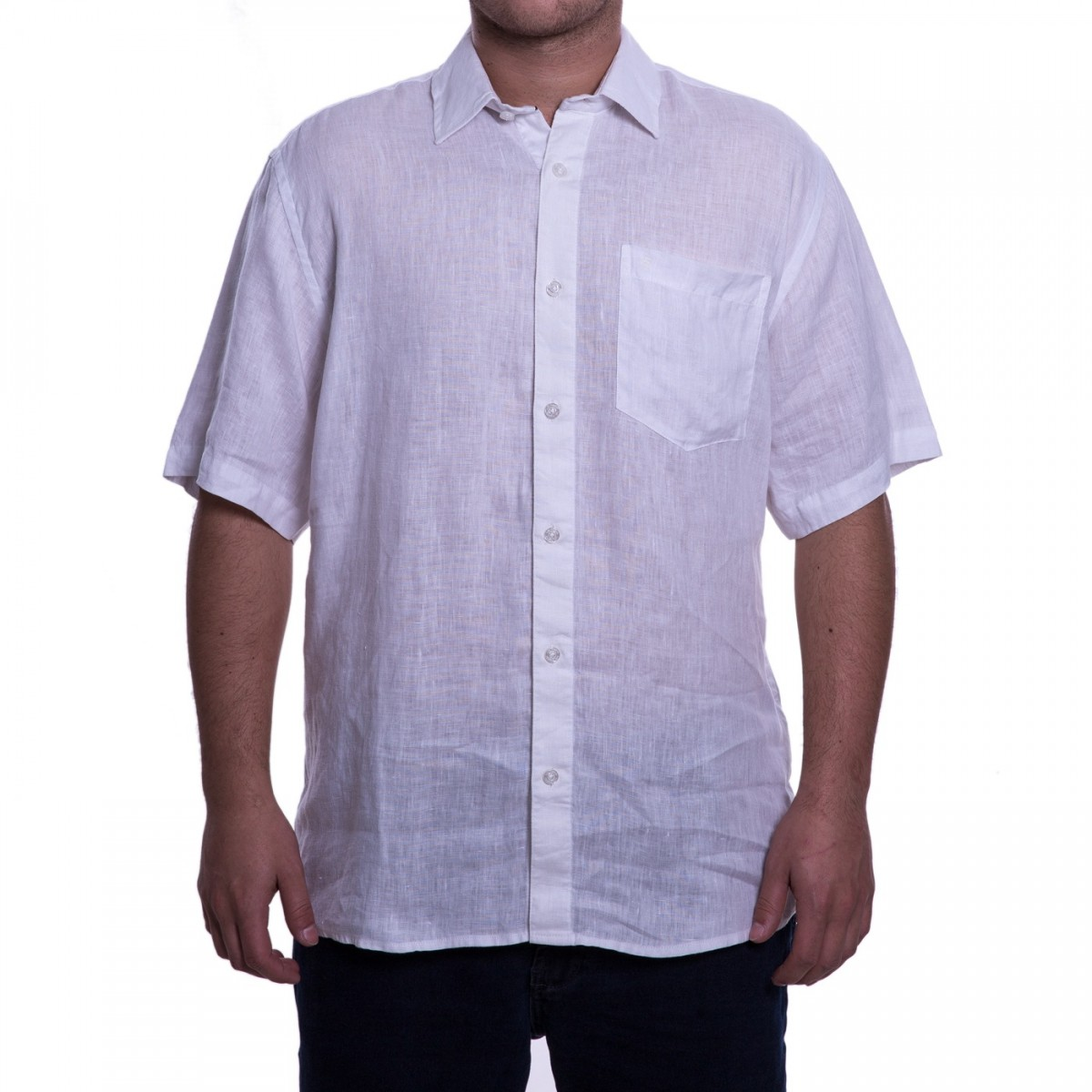 0d9858922 Bizz Store - Camisa Masculina Luiz Eugenio Linho Manga Curta