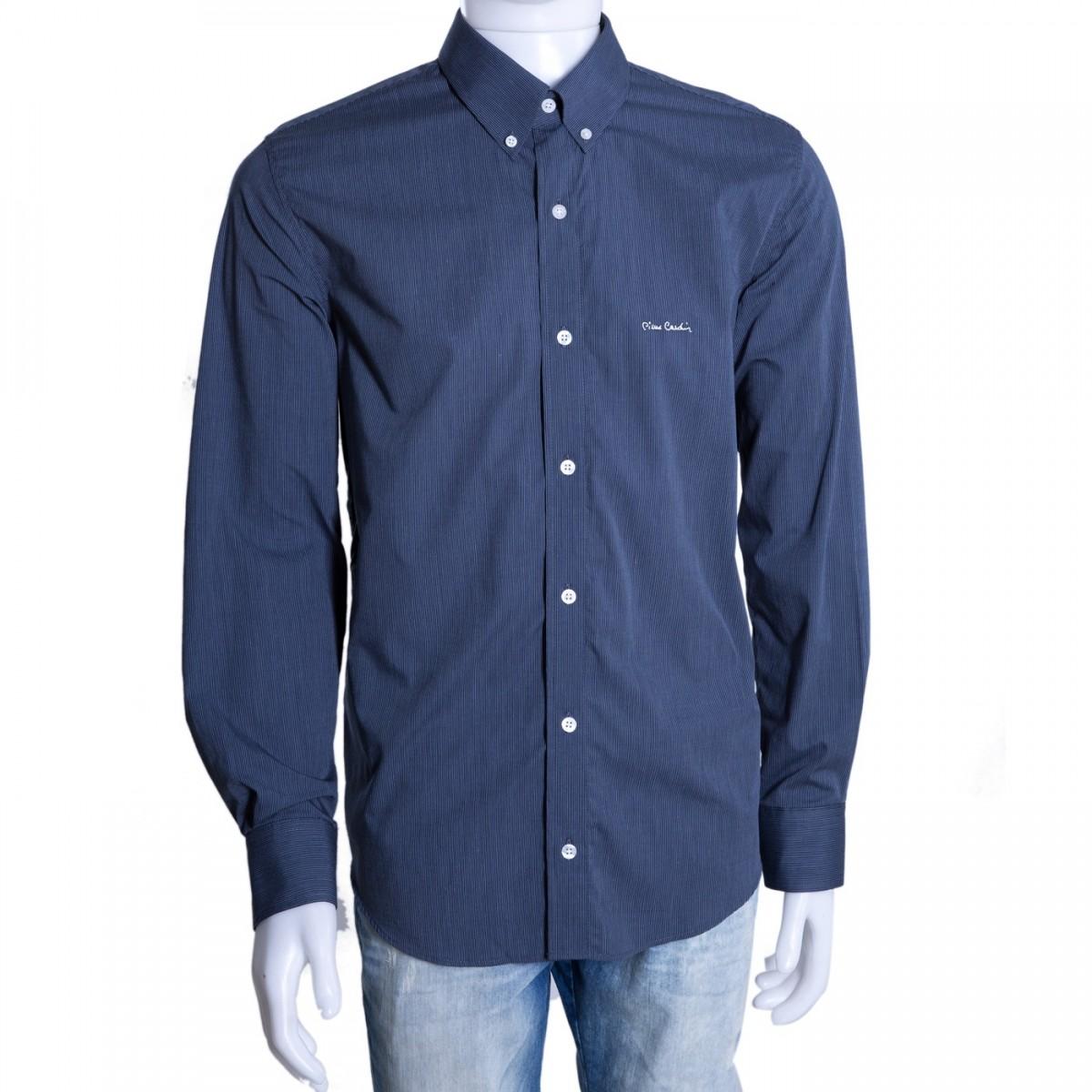 7f70ec118 Bizz Store - Camisa Social Masculina Pierre Cardin Manga Longa