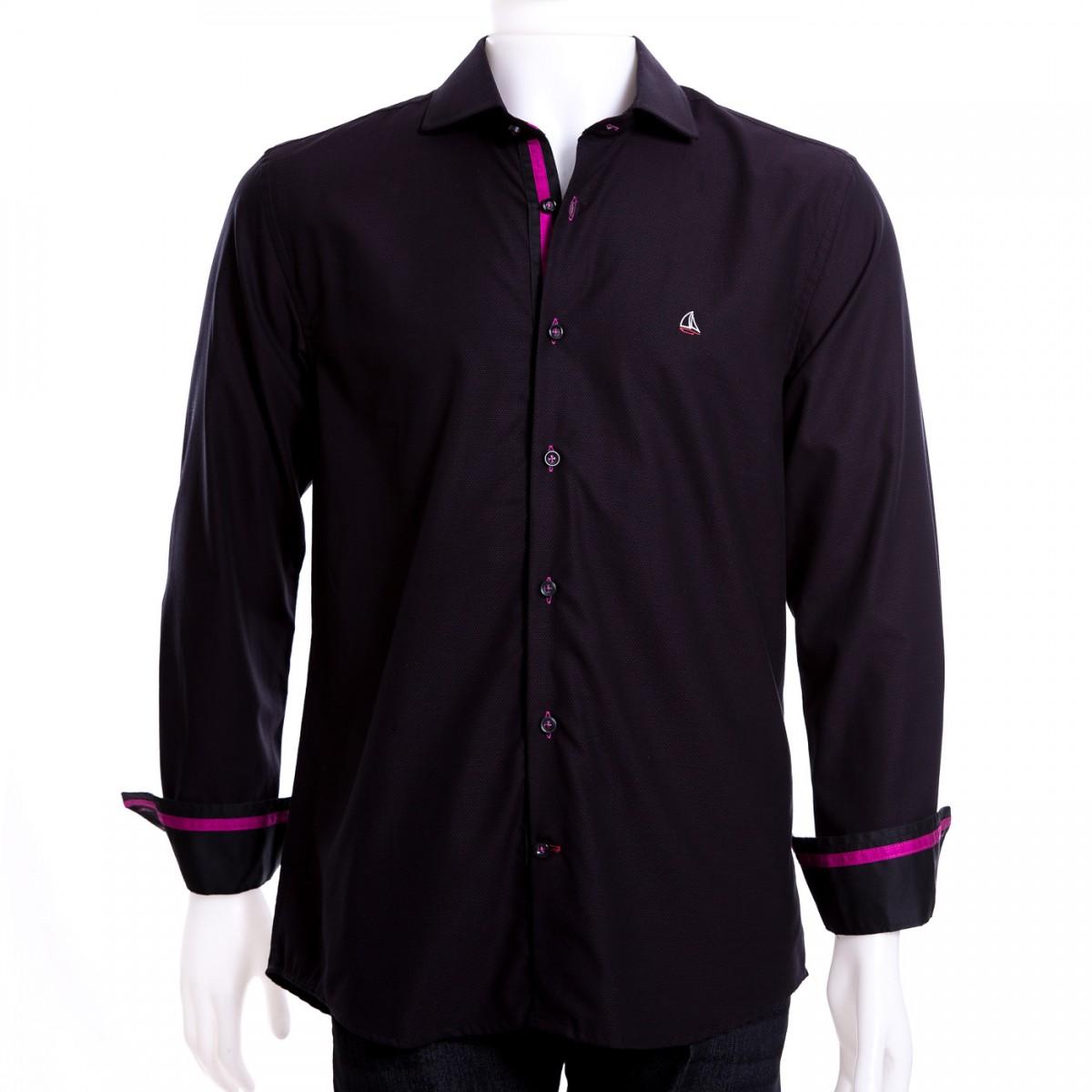 34aa373402 Bizz Store - Camisa Social Masculina Porto CO Slim Fit Marinho