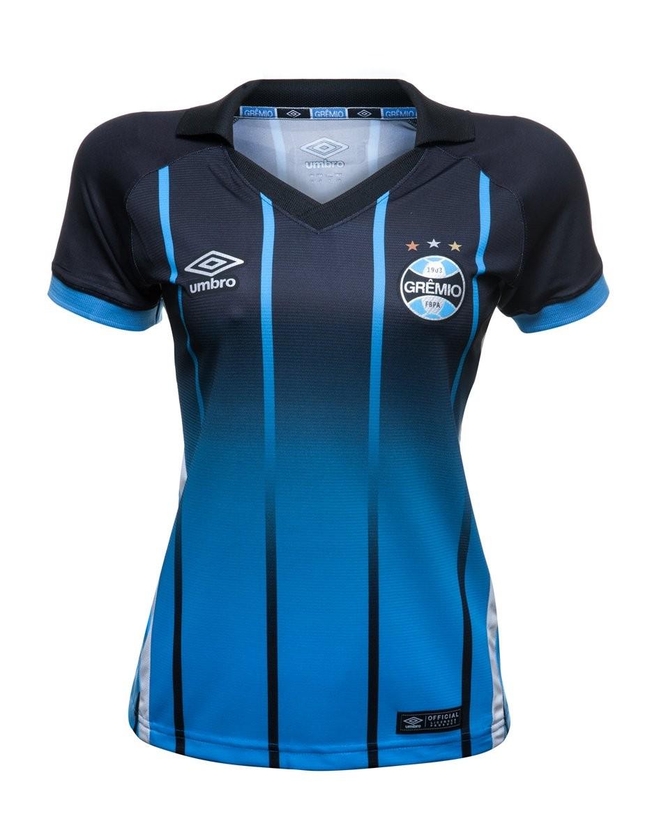 Bizz Store - Camisa Oficial Feminina Umbro Grêmio OF 3 2016 5ee6d0689f6e8