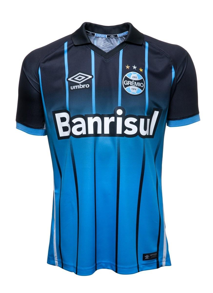 ba0e4bbce8662 Bizz Store - Camisa Oficial Grêmio OF 2016 Umbro Azul Manga Curta