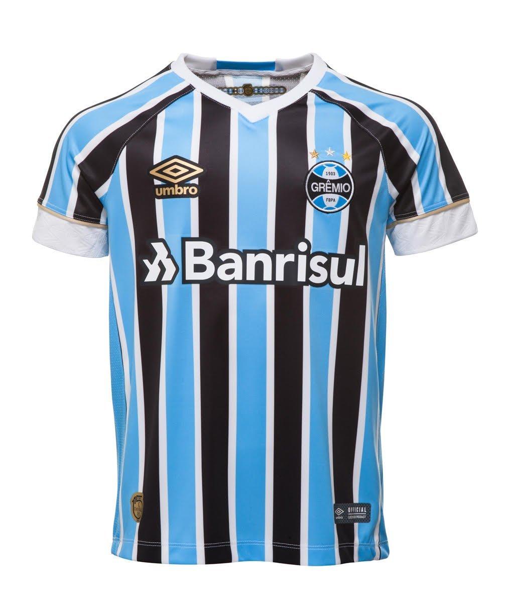 Bizz Store - Camisa Oficial Infantil Umbro Grêmio OF I 2018 3edfe0df77a7d