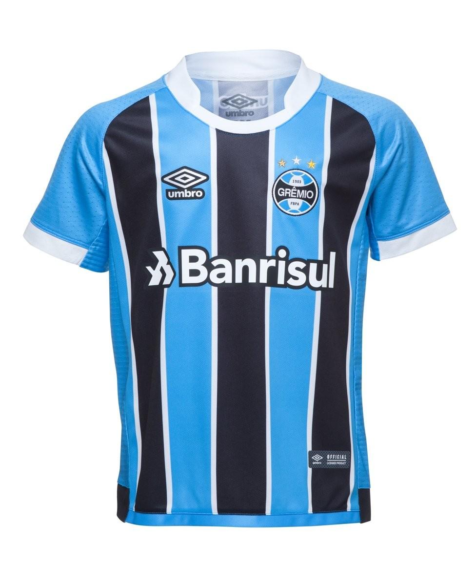 154b99329cd39 Bizz Store - Camisa Oficial Umbro Grêmio I 2017 Juvenil Menino