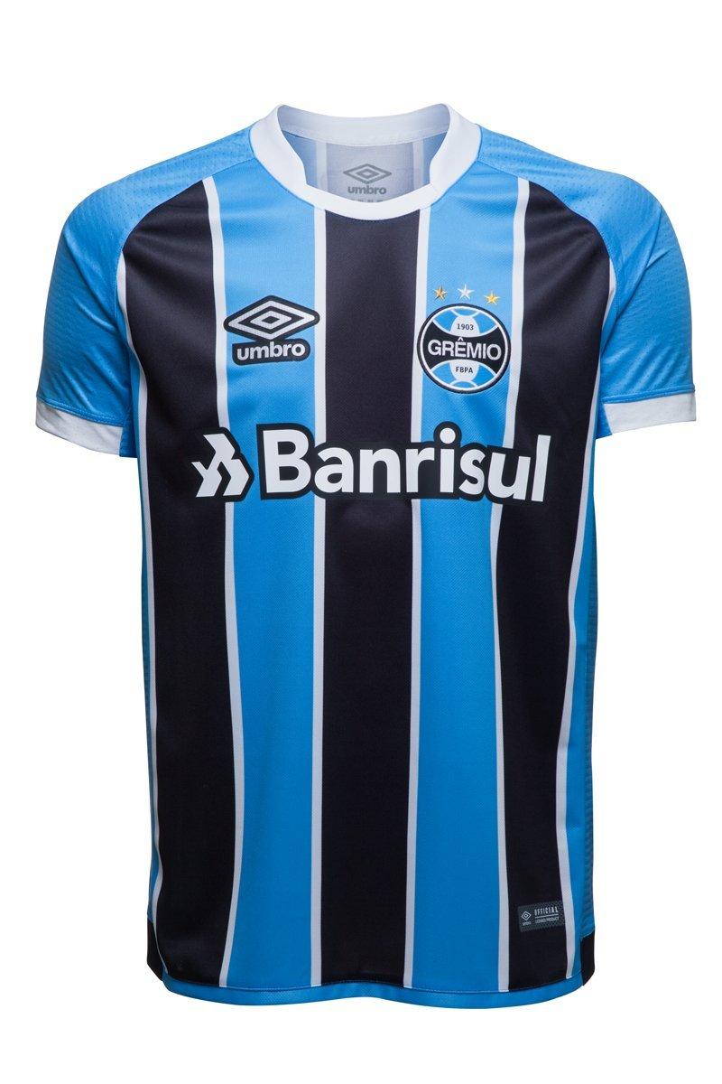 Imagem - Camisa Oficial Umbro Grêmio Of I 2017 Masculina 715756 - 055351 5c1bf3d9ec049