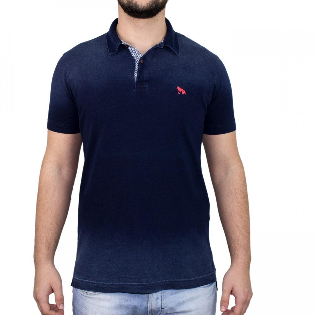Bizz Store - Camisa Polo Masculina Acostamento Marinho Manga Curta bc210f1a245